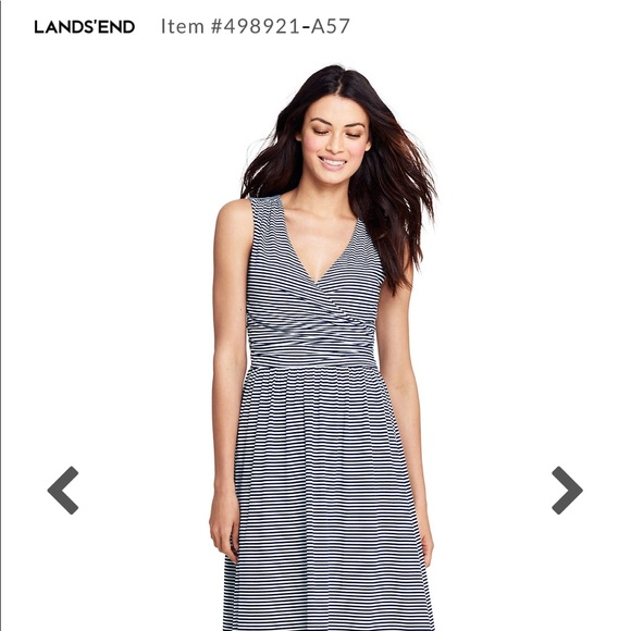 219f8940d Lands' End Dresses & Skirts - Lands end women's surplice maxi dress-navy  stripe